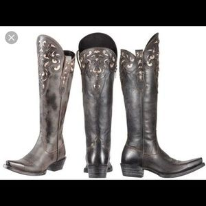 Arias Knee High Cowboy Boot